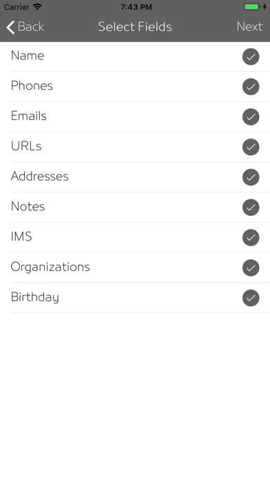 iKontacts - Manage Contacts screenshot 4
