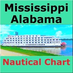 Mississippi-Alabama Marine Map