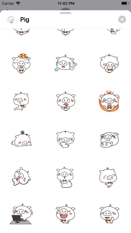 Funny Piggy Animated Stickers