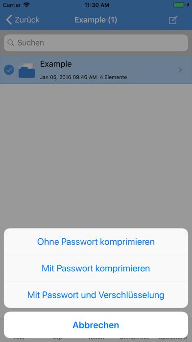 iZip - Zip Unzip UnrarScreenshot von 4