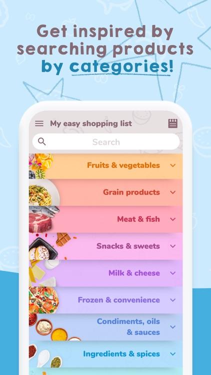 Easy Shopping List.