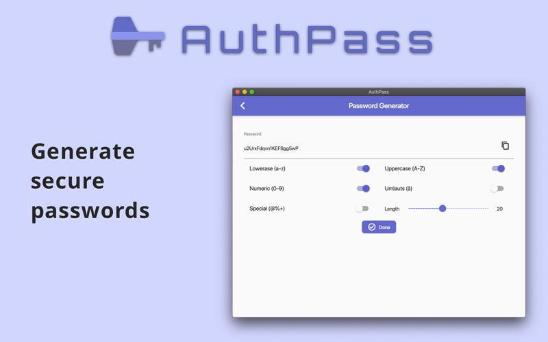 AuthPass - Password Manager for Mac