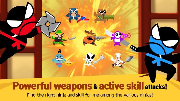 Jumping Ninja Battle - 2Player screenshot-5