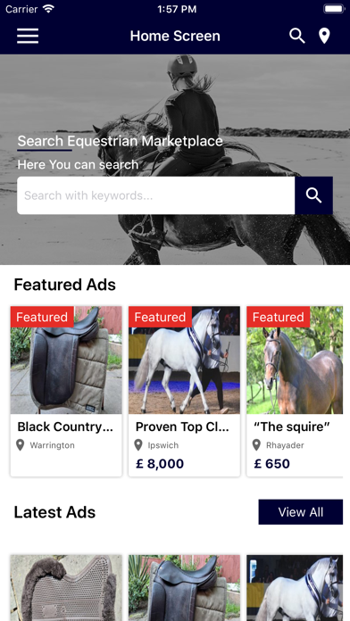 Equestrian Marketplace screenshot #1