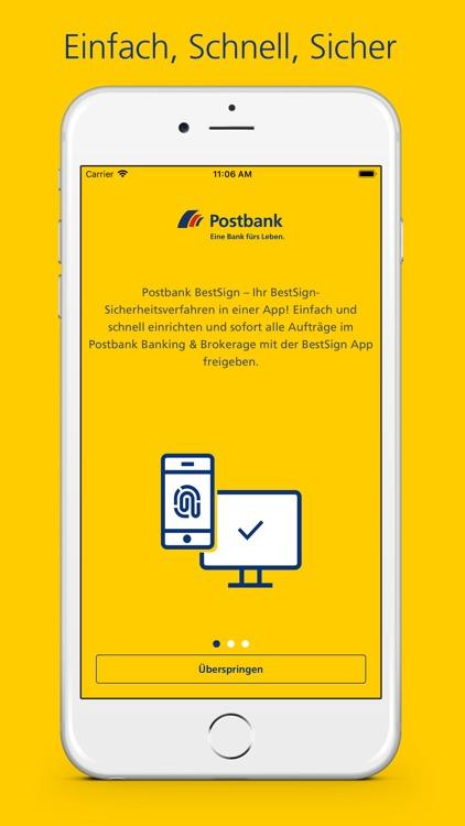 Postbank Bestsign App By Postbank Eine Niederlassung Der Db Privat Und Firmenkundenbank Ag