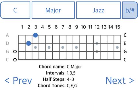ChordFinder for Tenor Banjo - náhled
