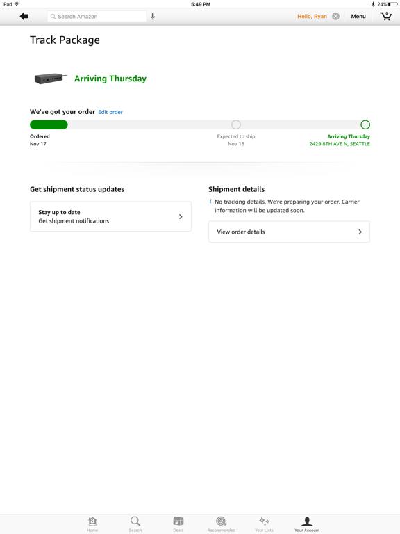 iPad Image of Amazon - Shopping made easy