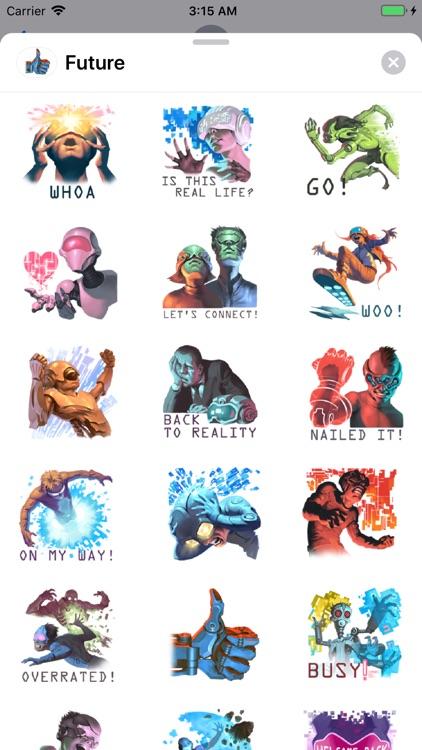 2080 Future World Sticker Pack
