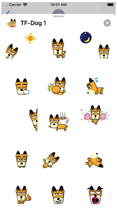 TF-Dog 1 Stickers Screenshot
