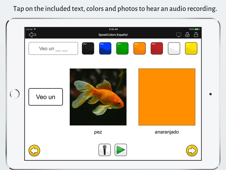 SpeakColors Español Lite screenshot-1