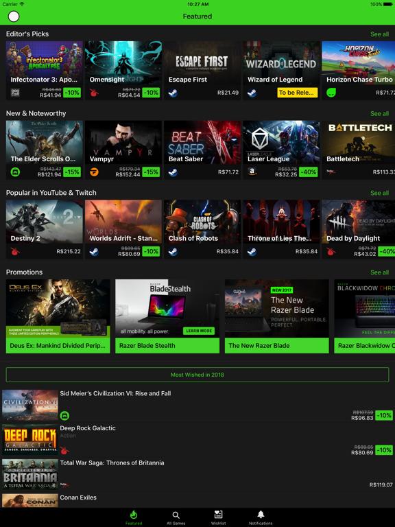 Razer Game Dealsのおすすめ画像1