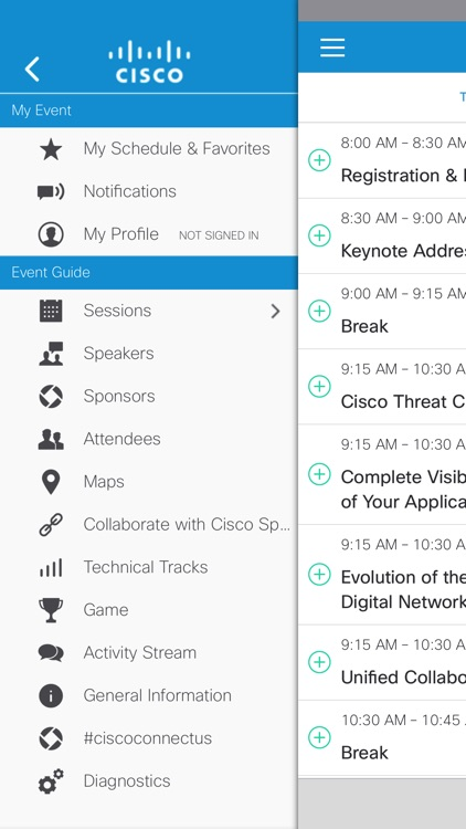 Cisco Events App