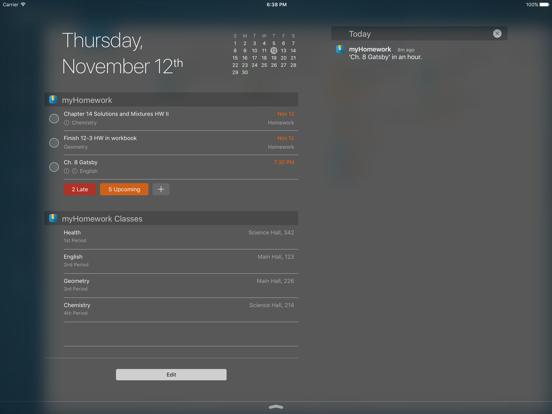 myHomework Student Planner iPad