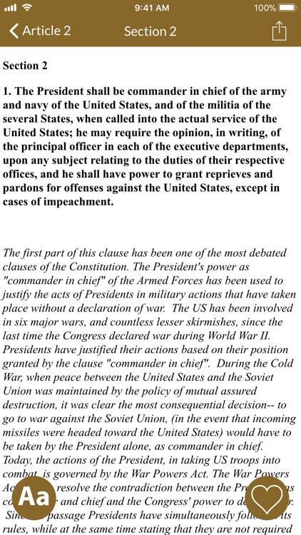 Constitution of the U.S.A. screenshot-1
