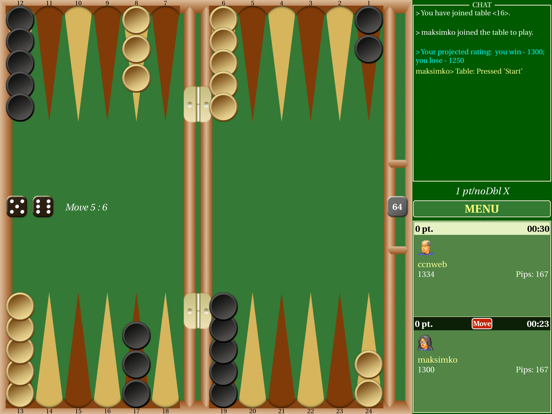Backgammon Live screenshot