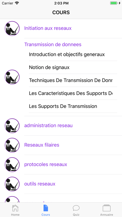 Cours de Réseau Informatique screenshot 4