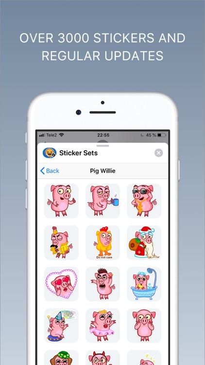 Sticker sets - Emoji keyboard screenshot-3