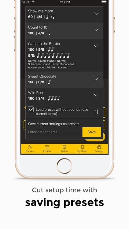 Andante Metronome - Tempo App screenshot-3