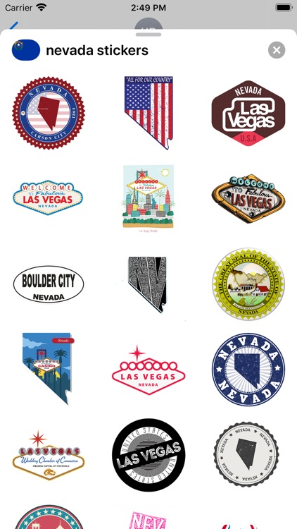 Nevada emojis - USA stickers