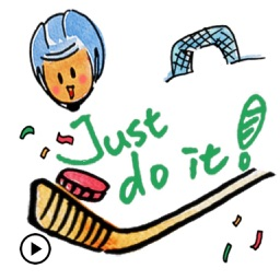 Animated Play Hockey Sticker
