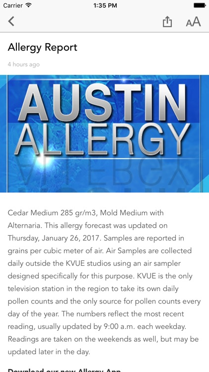 Austin Allergy screenshot-1
