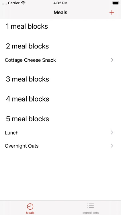Zone Meal Planner