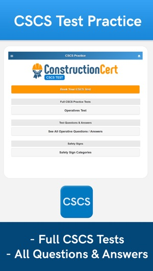 test revision book free cscs