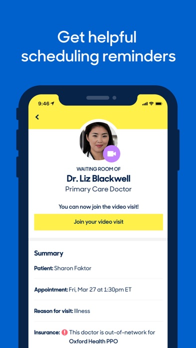 Zocdoc On Demand Doctor Visits review screenshots