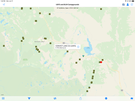 Screenshot #4 pour USFS and BLM Campgrounds