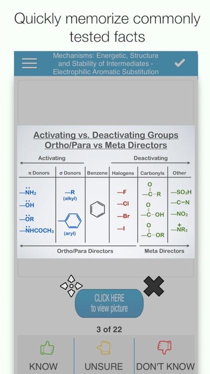 PCAT Organic Chem Cram Cards screenshot-0