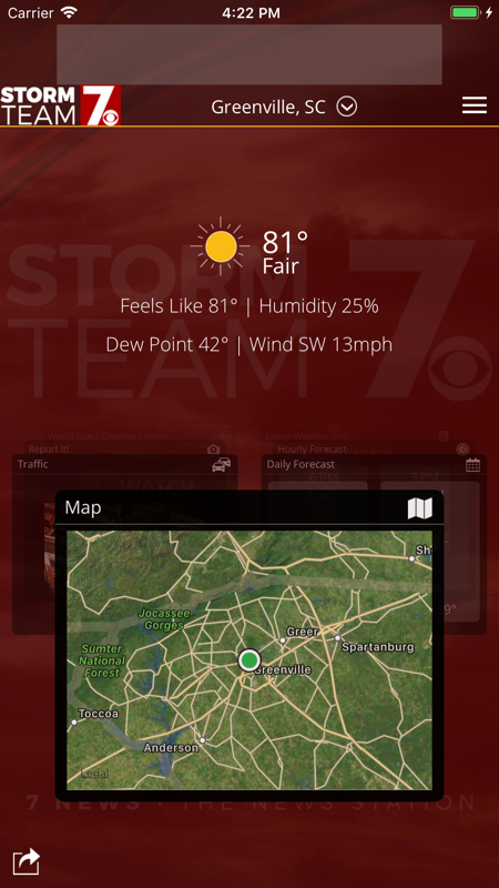 WSPA Weather截图1