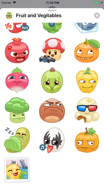Fruit and Vegetables Stickers screenshot-6