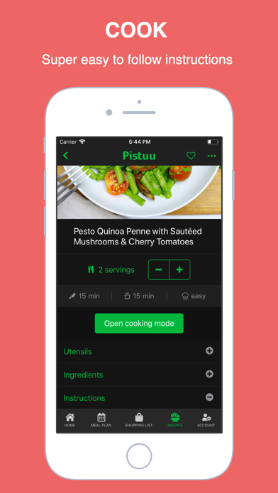 Pistuu: Plant Based Meal Plans Screenshot