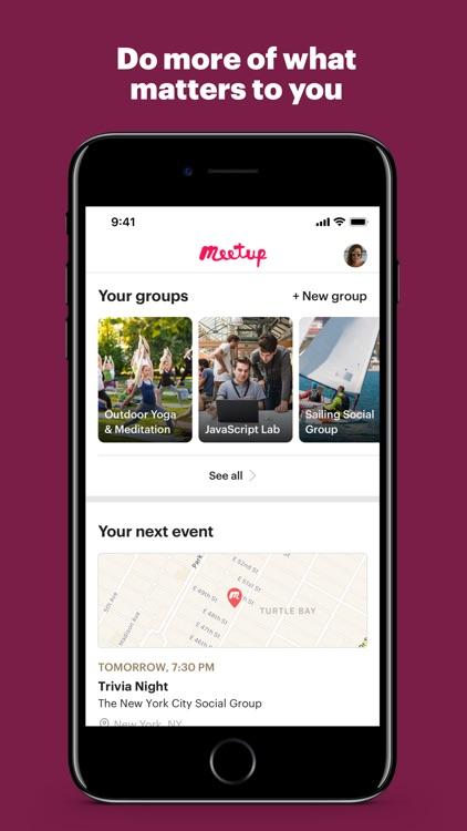 Meetup: Local groups & events screenshot-0