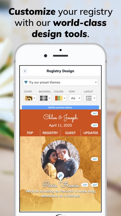 Honeyfund Wedding Registry