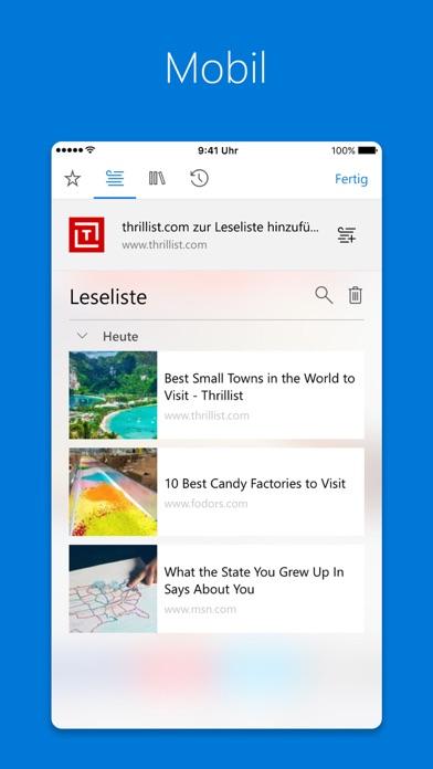 Screenshot for Microsoft Edge in Germany App Store