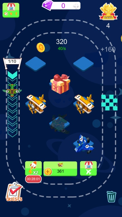 Tiny Plane - 2048 Coins Tycoon screenshot-4