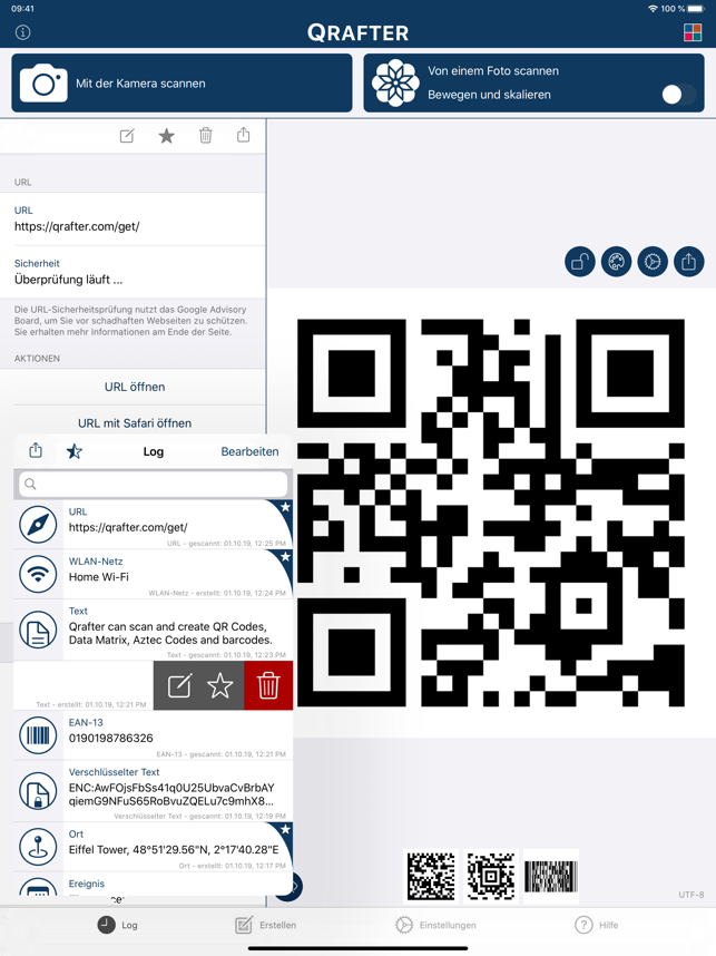 ‎Qrafter - QR Code Scanner Screenshot