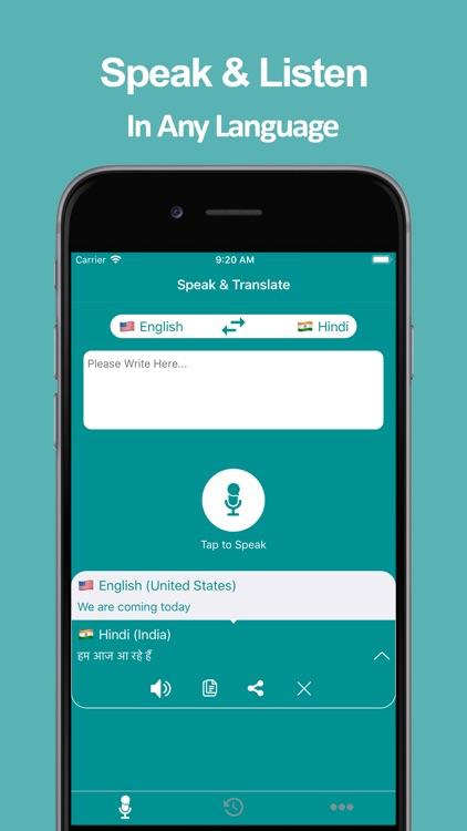 Speak & Translate APP screenshot-5