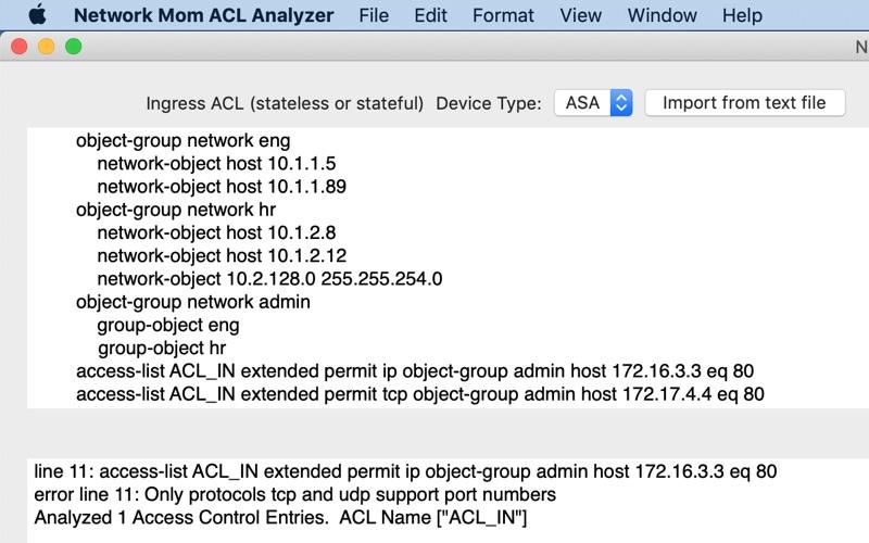 Network Mom ACL Analyzer for Mac