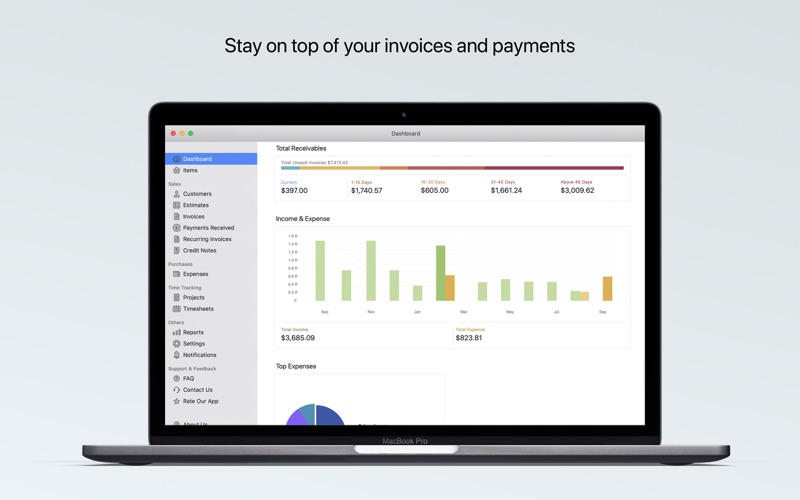 Invoice & Time Tracking - Zoho for Mac