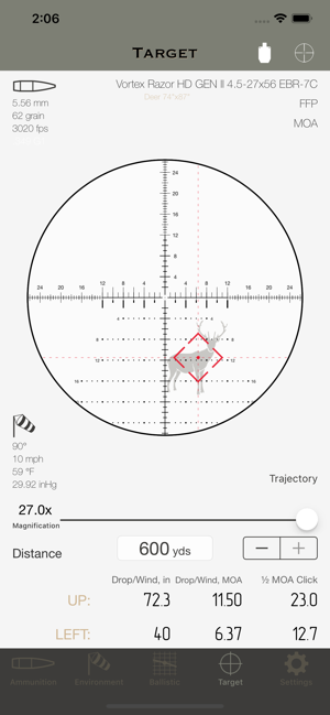 баллистический калькулятор для iphone