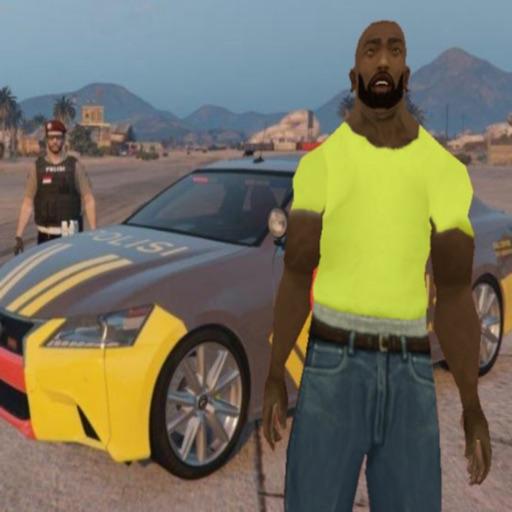 Driving police theft simulator icon