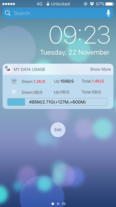 My Data Usage Cellular Widgetのスクリーンショット1
