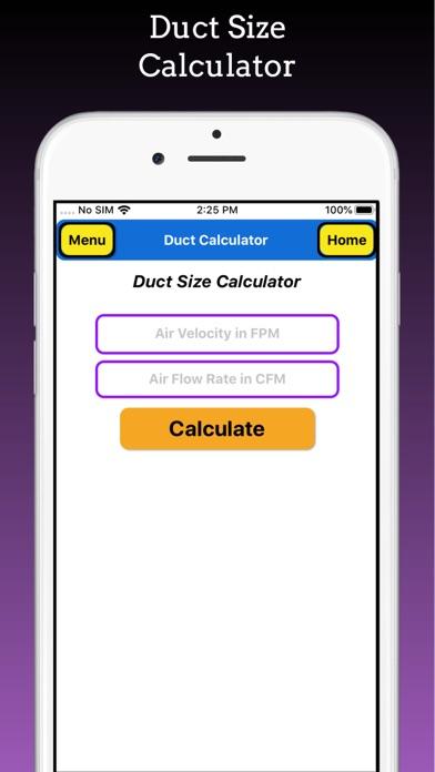 Duct Calculator Pro screenshot 2