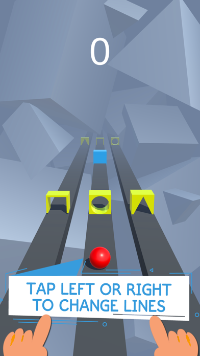 Race Road: Color Ball Star 3D Screenshot on iOS