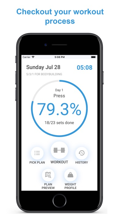 Your Workout Plan Screenshots