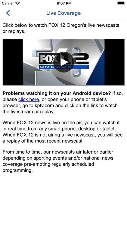 Portland Weather App -Fox 12 screenshot-4
