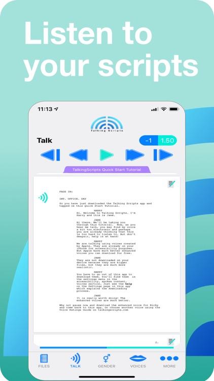 Talking Scripts screenshot-0