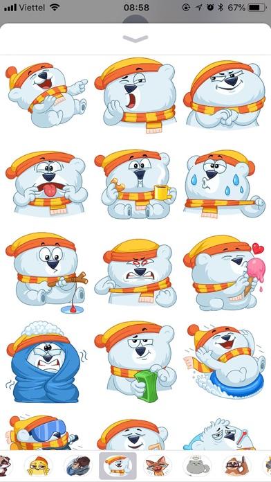Kitty Bear Emoji Funny Sticker screenshot 3